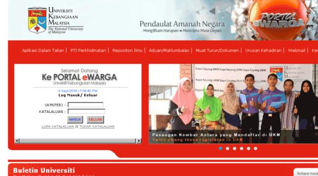 Ewarga6 Ukm My Portal Ewarga Universiti Keban Ewarga 6 Ukm