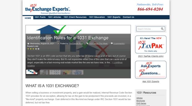 expert1031.com - 1031 Exchange Experts | Home P... - Expert 1031