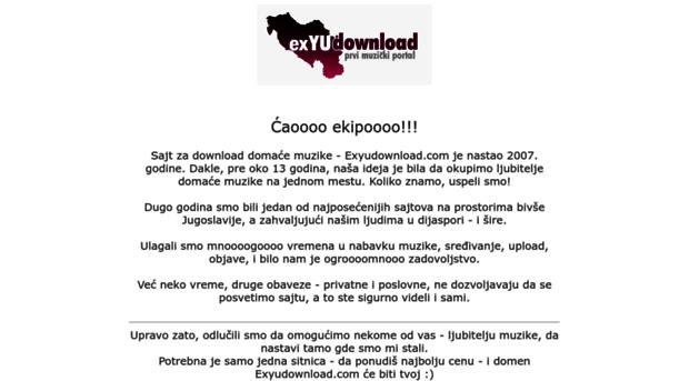 Ex yu muzika mp3 free download.