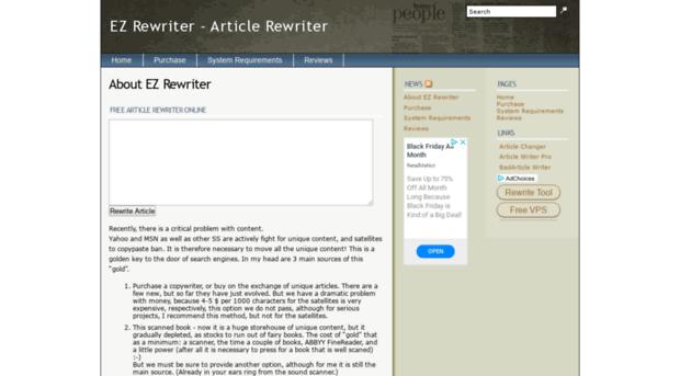 Article rewiter