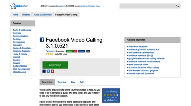 facebook video calling 3.1.0.521