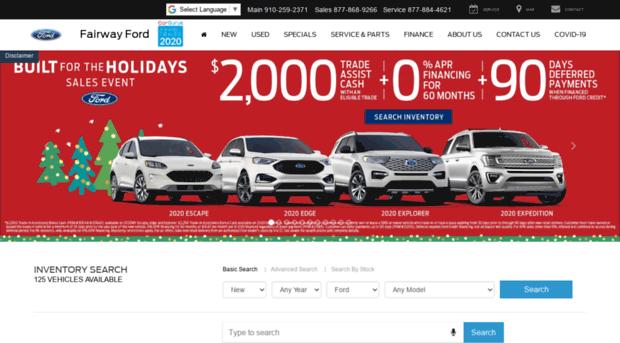 Ford Dealerships In Nc >> Fairwayfordburgaw Net Ford Dealer In Burgaw Nc Used Cars