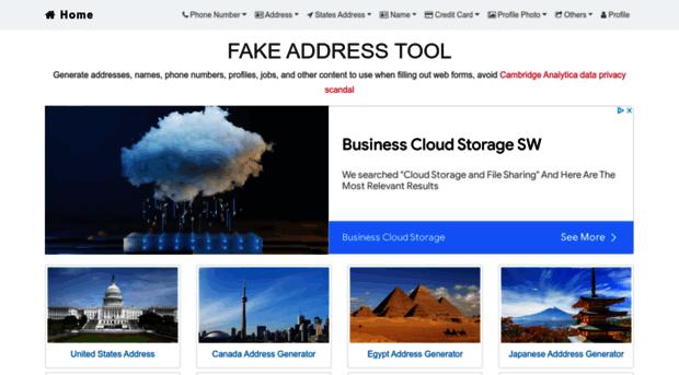 fakeaddresstool com Random Fake Address Generator Tool