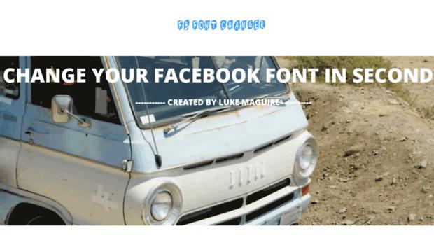 Fbfontchanger Com Facebook Stylish Font Fb Font Changer