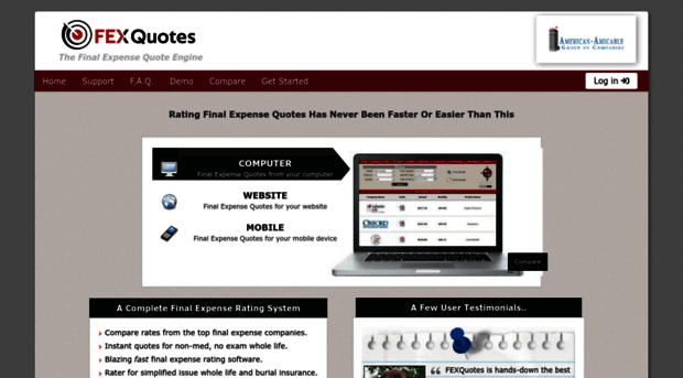 Fex Quotes Fexquotes  Final Expense Quote Engine  Fex Quote S