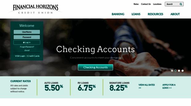 fhcunv fhcunv.org - Financial Horizons Credit Unio... - Fhcunv