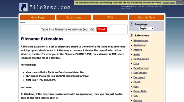Filename Extensions Database -...