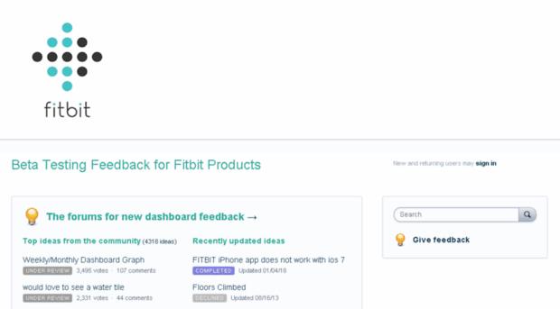 Fitbit Feedback