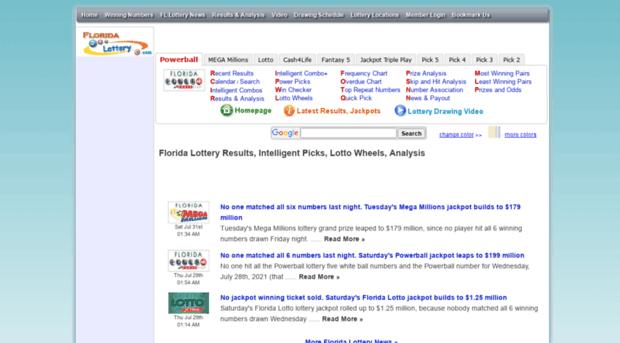 fllott com - Florida Lottery Results, Intel    - Fllott