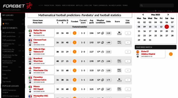 forebet com - Mathematical football predicti    - Forebet