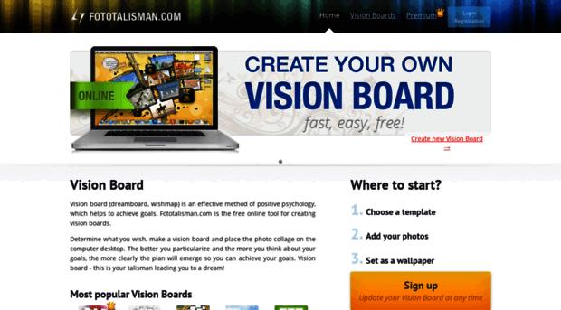 fototalisman.com - Vision Board online. Free temp... - Fototalisman