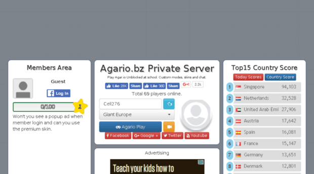 Agario private server