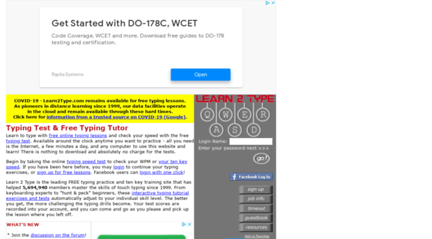free-typingtest.info - Typing Test and Free Learn to ... - Free ...