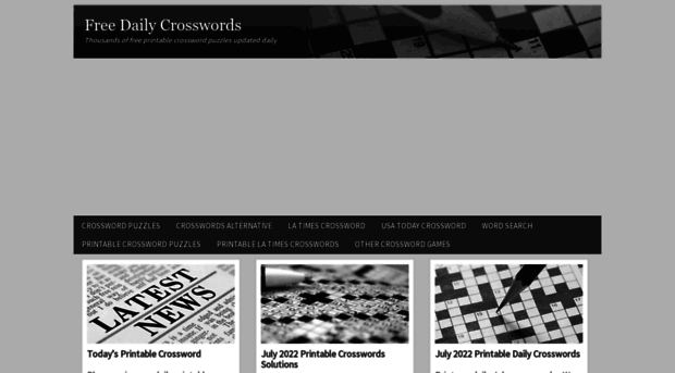 photo about Free Daily Printable Crosswords named Cost-free Each day Crosswords