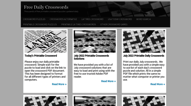 image regarding Onlinecrosswords Net Printable Daily titled Absolutely free Every day Crosswords