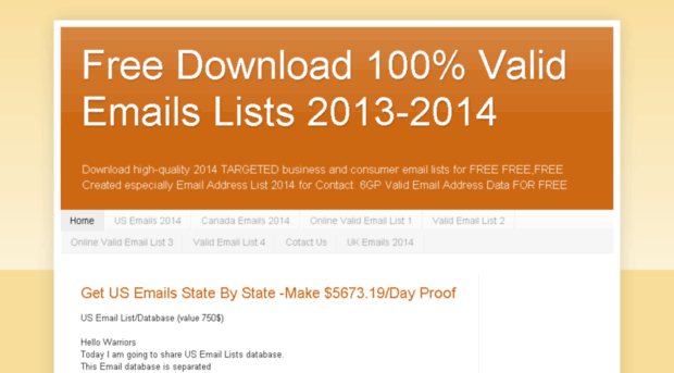Email Database Free Download