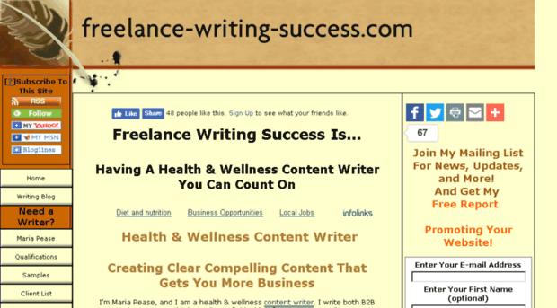 freelance health writing