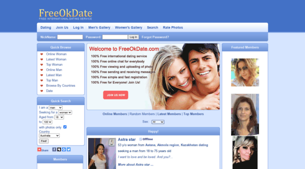 Free ok dating sites
