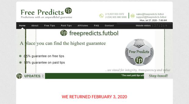 freepredicts futbol - Free Predicts - Guaranteed, Ge