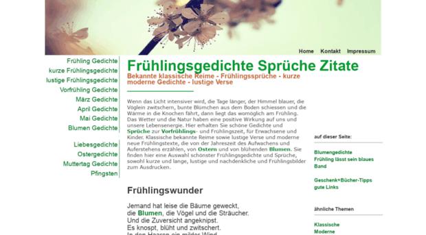 Fruehling Gedichtenet Schöne Frühlingsgedichte Kur