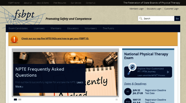fsbpt org - The Federation of State Boards    - FSBPT