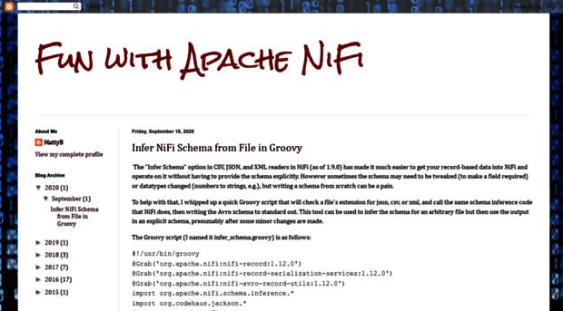 funnifi blogspot com br - Fun with Apache NiFi - Fun Ni Fi Blogspot