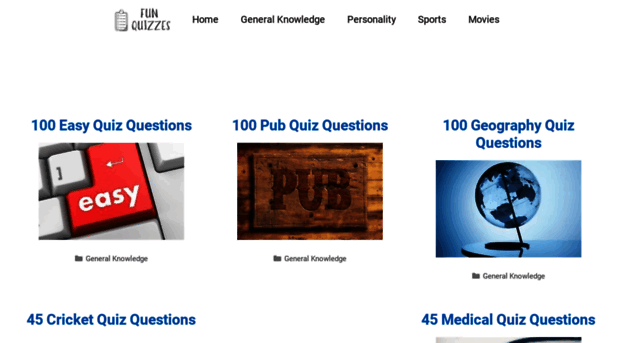 funquizzes uk Free Online General Knowledge Quiz Questions and