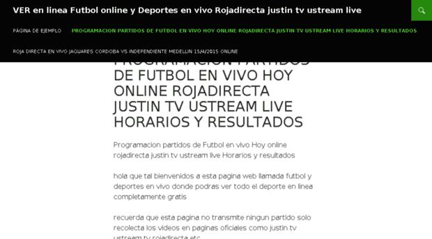 c6ceee64eae48 VER en linea Futbol online y Deportes en vivo Rojadirecta Justin tv Us..