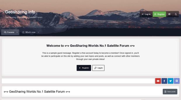 geosharing info - «•» GeoSharing Worlds No 1 Sat    - Geo Sharing