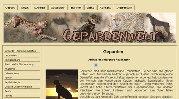 gepardenwelt.de - Geparden - Afrikas faszinieren... - Geparden Welt