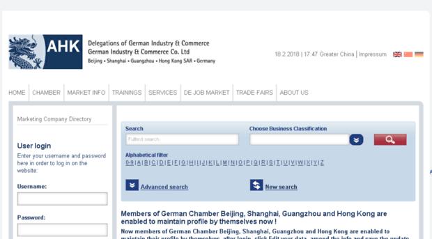 german-company-directory com - AHK Greater China, Liste Deuts