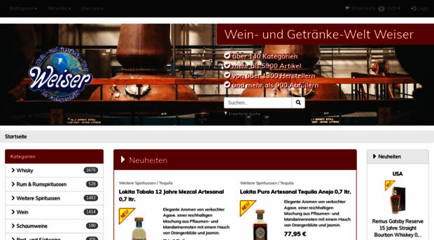 getraenkewelt-weiser.de - Wein- und Getränke-Welt Weiser - Getraenke ...