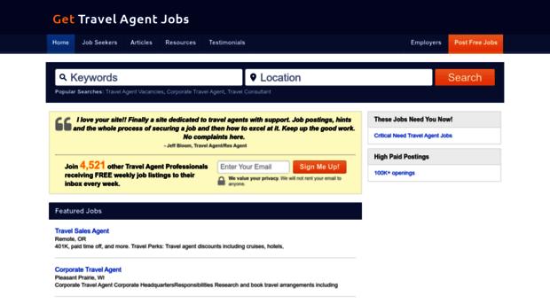 Keywords: Travel Agent Jobs, Travel Industry Jobs, Travel Agent Job  Description, Travel Agent Job Home Based, Online Travel Agent Jobs,  Corporate Travel ...