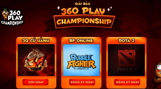 Giải Đấu 360play Championship. http://giaidau.3q.com.vn