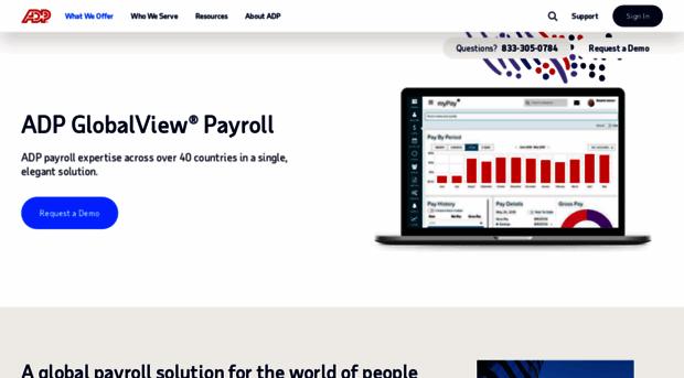 globalview adp com - ADP GlobalView® | Global Payro