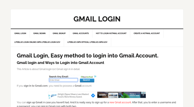 Gmailloginf Com Gmail Login Easy Method To L Gmail
