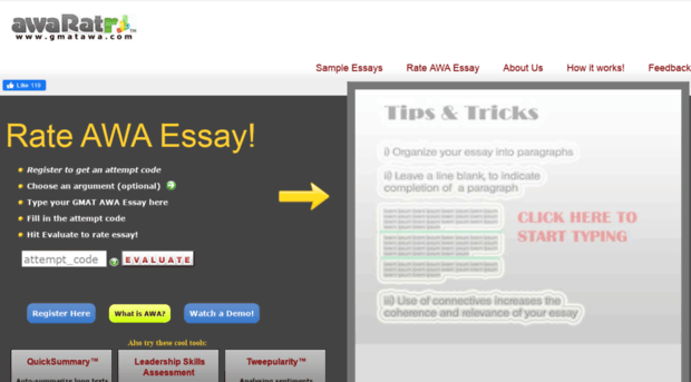 gmat answers to real essay