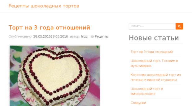 Новый рецепт шоколадного торта