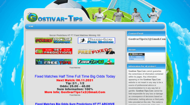 gostivar-tips com Fixed Matches Sure 100% - Fixed Matches