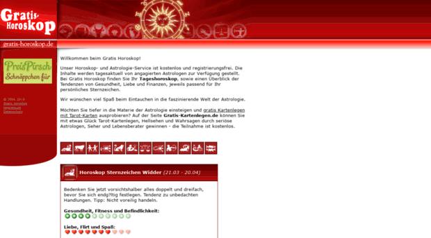 horoskop kartenlegen gratis