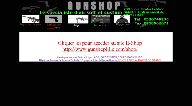 Gunshop lille le magasin d 39 a gunshop lille for Metre laser castorama lille