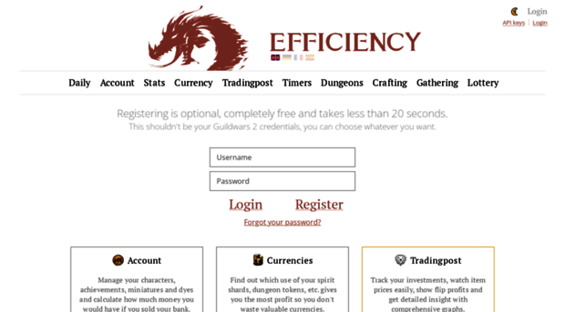 gw2efficiency com gw2efficiency