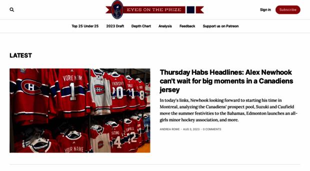 habseyesontheprize com - Montreal Canadiens Schedule, R    - Habs