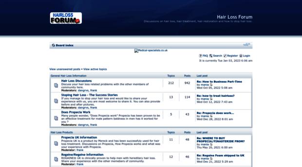 Propecia success forum