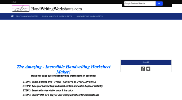 Amazing Handwriting Worksheet Maker The Best and Most – Amazing Worksheet Maker