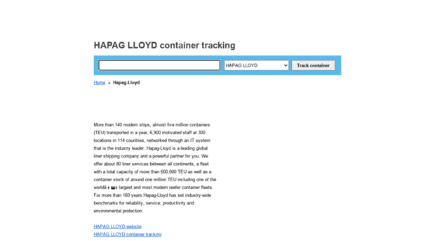 hapaglloyd container-tracking org - HAPAG (HL) container