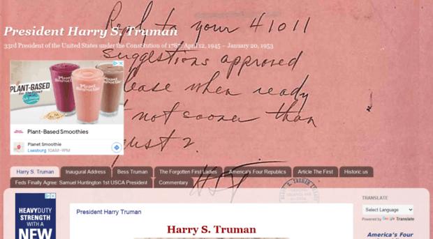 a description of the 33rd president harry s truman