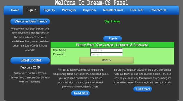 hdpak net - WelCome To Dream-CS Panel - Hdpak