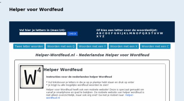 woorden generator wordfeud helper