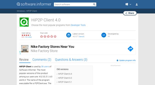 hip2p-client software informer com - HiP2P Client Download